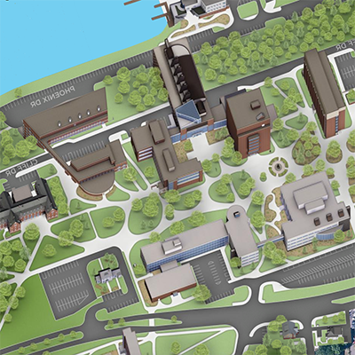 Illustrated view of campus.